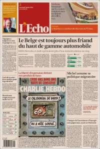 Portada de L'Echo (Bélgica)