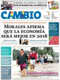 Portada de Cambio (Bolivia)