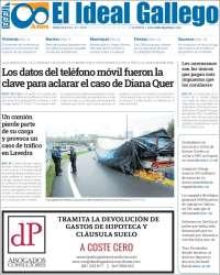Portada de El Ideal Gallego (España)