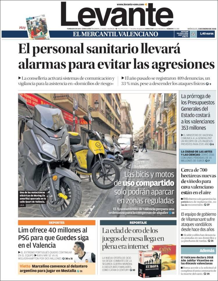Portada de Levante (España)