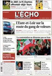 Portada de L'Echo Républicain (Francia)