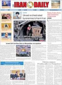 Portada de Iran Daily (Irán)