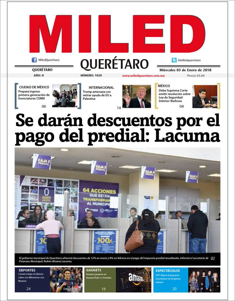 Portada de Miled - Querétaro (México)