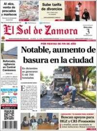 Portada de El Sol de Zamora (México)