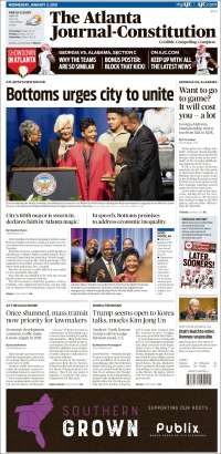 Portada de The Atlanta Journal-Constitution (USA)