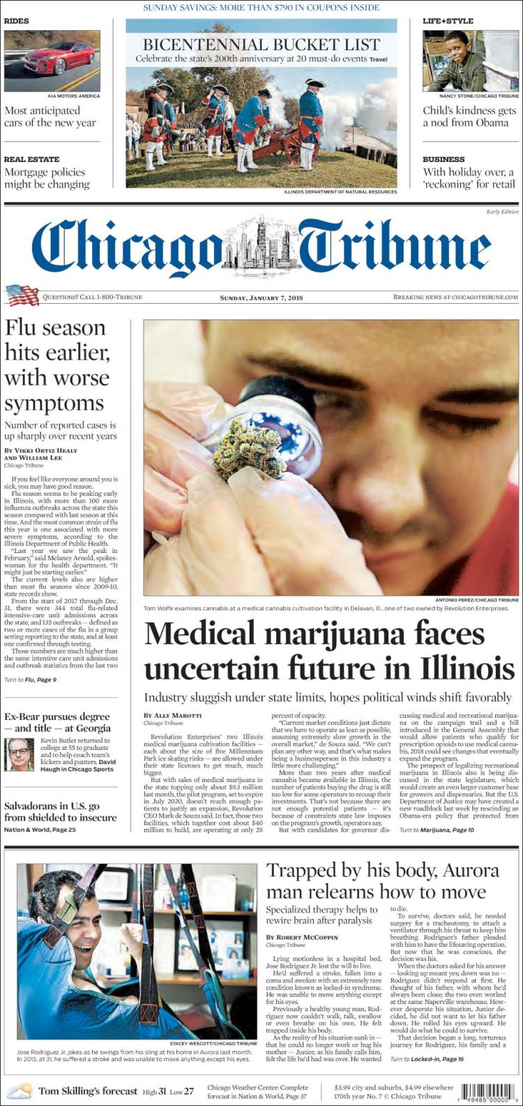 chicago tribune sunday paper The latest tweets from chicago tribune (@chicagotribune) breaking news since 1847 chicago, il.
