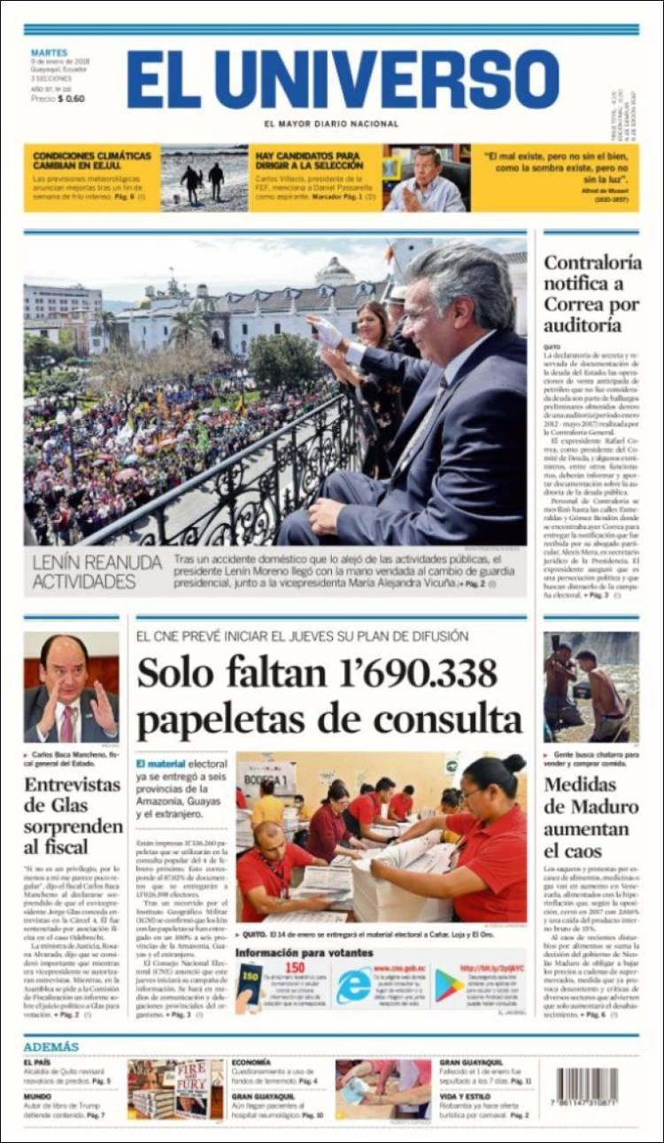 Periódico El Universo - Ecuador (Ecuador). Periódicos de Ecuador ...