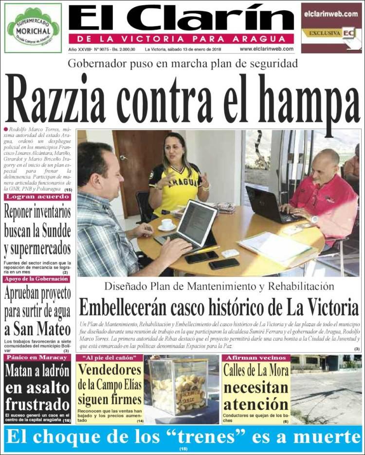 Periódico El Clarín de la Victoria para Aragua (Venezuela ...