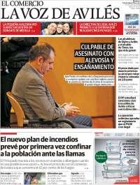 Portada de El Comercio - Avilés (Espagne)