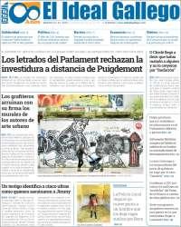 Portada de El Ideal Gallego (Espagne)