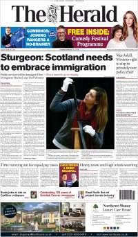 Portada de The Herald (Royaume-Uni)