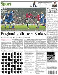Portada de The Times Sport (Royaume-Uni)