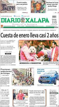 Portada de Diario de Xalapa (Mexico)