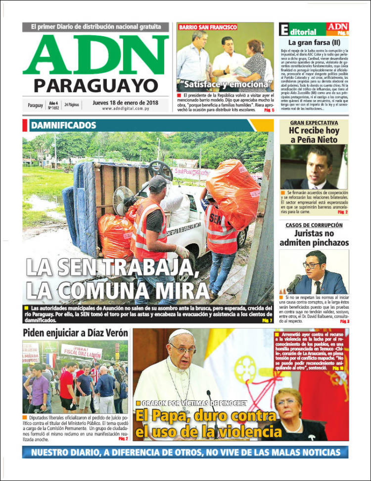 Portada de ADN Paraguayo (Paraguay)