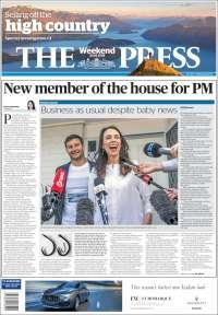 Portada de The Press (Nouvelle-Zélande)