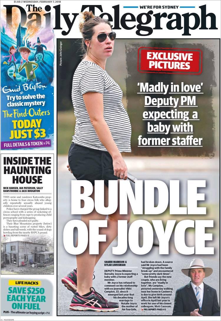 portada de the daily telegraph australia