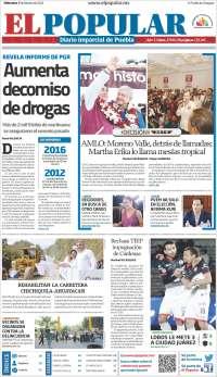 Portada de Periódico El Popular (Mexique)