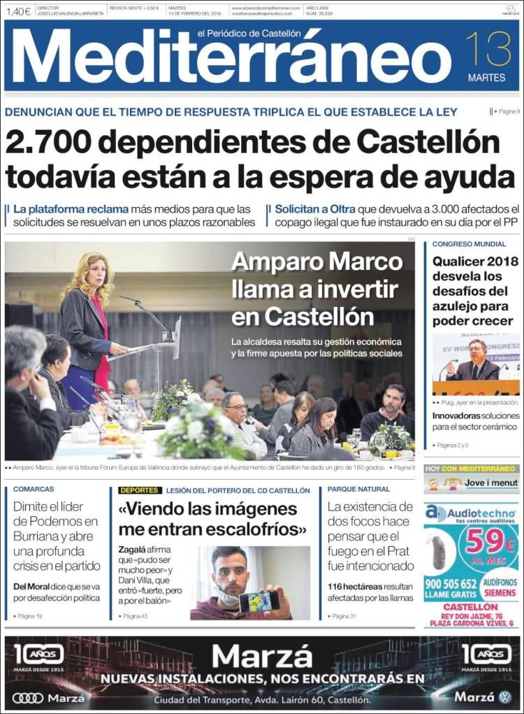 Portada de El Periódico Mediterraneo (España)