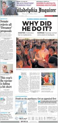 Portada de Philadelphia Inquirer (USA)