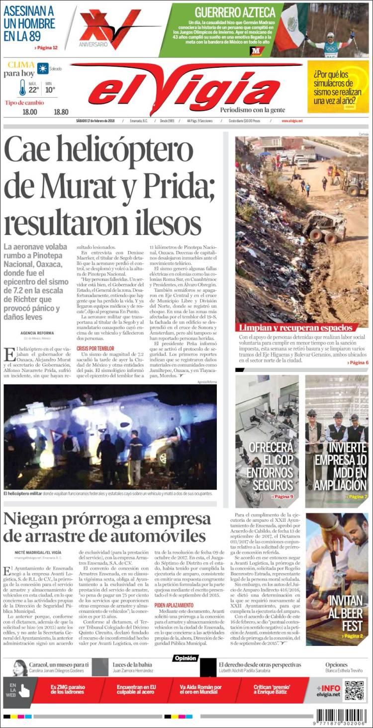 Portada de El Vigía (México)