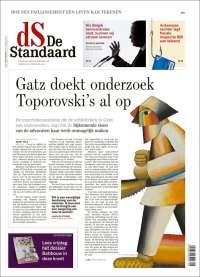 Portada de De Standaard (Bélgica)