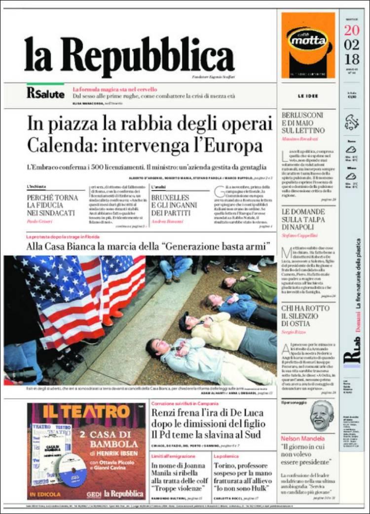 La Repubblica It Nel 2019: Periódico La Repubblica (Italia). Periódicos De Italia