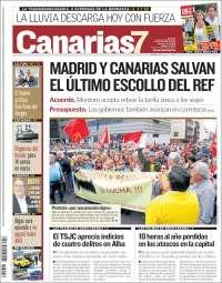 Portada de Canarias 7 (Espagne)