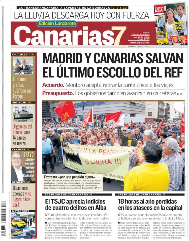 Portada de Canarias 7 - Lanzarote (Espagne)