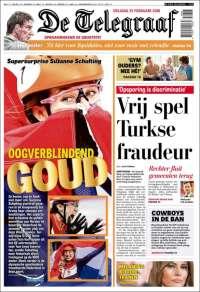 Portada de De Telegraaf (Pays-Bas)