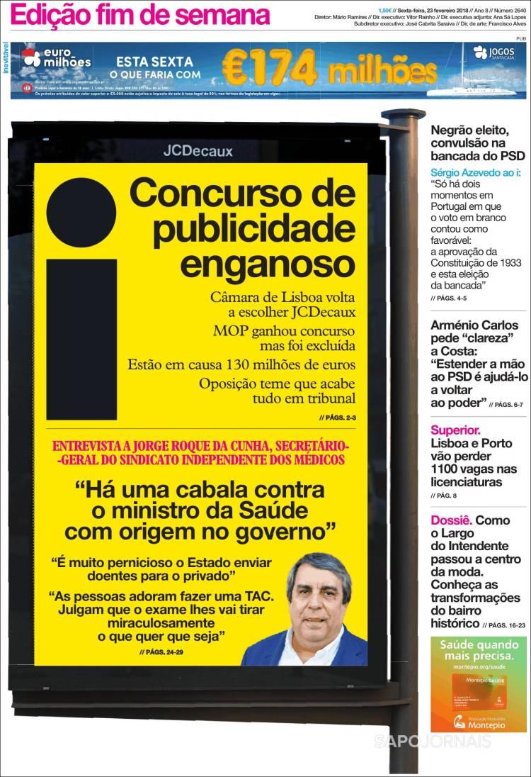 Portada de I - informação (Portugal)