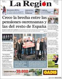 Portada de La Región de Ourense (España)
