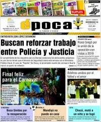 Portada de Diario Época (Argentina)