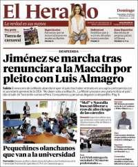 Portada de El Heraldo (Honduras)