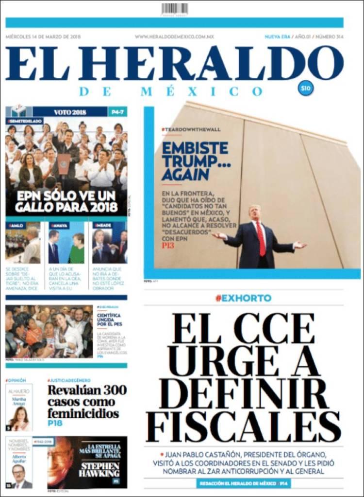 Portada de El Heraldo de México (México)