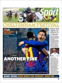 Portada de Metro Sport (Royaume-Uni)