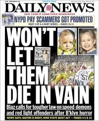 Portada de Daily News - New York (États-Unis)