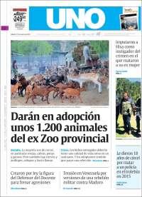Portada de Diario Uno (Argentine)