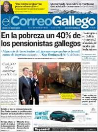 Portada de El Correo Gallego (Espagne)