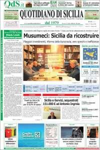 Portada de Quotidiano di Sicilia (Italia)