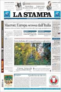 Portada de La Stampa (Italie)