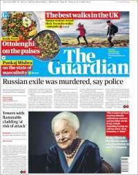 Portada de The Guardian (Royaume-Uni)
