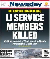 Portada de Newsday (États-Unis)
