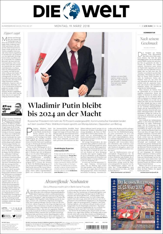 """Die Welt: """"Да плевать им на наши санкции"""""""