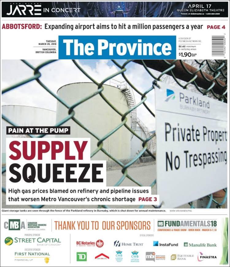 Portada de The Province (Canada)