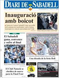Portada de Diari de Sabadell (Espagne)