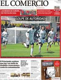 Portada de El Comercio (Espagne)
