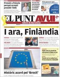 Portada de El Punt Avui (Espagne)