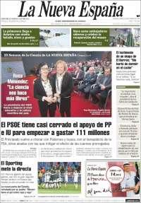 Portada de La Nueva España (Espagne)
