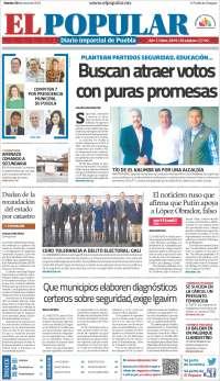 Portada de Periódico El Popular (Mexico)