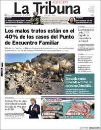 Portada de La Tribuna de Albacete (España)